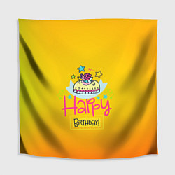 Скатерть для стола Happy Birthday цвета 3D — фото 1
