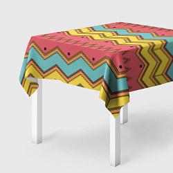 Скатерть для стола Цветные зигзаги цвета 3D — фото 2