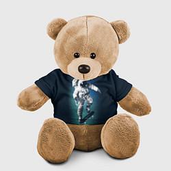 Игрушка-медвежонок Космический скейтбординг цвета 3D-коричневый — фото 1