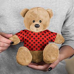 Игрушка-медвежонок Леди Баг: узор цвета 3D-коричневый — фото 2