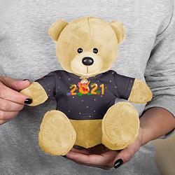 Игрушка-медвежонок 2021 Новый Год цвета 3D-желтый — фото 2