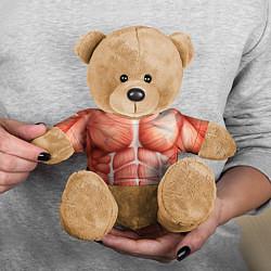 Игрушка-медвежонок Мышцы мужчины цвета 3D-коричневый — фото 2