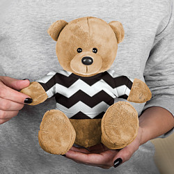 Игрушка-медвежонок Полосы цвета 3D-коричневый — фото 2