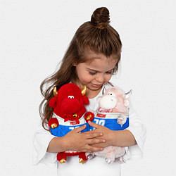 Игрушка-бычок Russia: from 72 цвета 3D-красный — фото 2