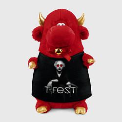 Игрушка-бычок T-Fest: Black Style цвета 3D-красный — фото 1