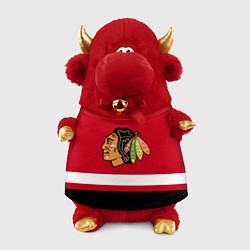 Игрушка-бычок Chicago Blackhawks цвета 3D-красный — фото 1