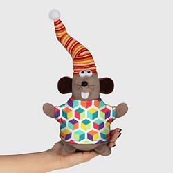 Игрушка-мышка 3D кубы цвета 3D-серый — фото 1