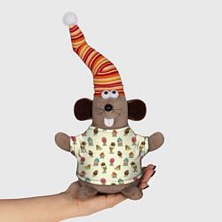 Игрушка-мышка Мороженое с характером цвета 3D-серый — фото 1