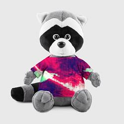 Игрушка-енот Брызги красок цвета 3D-серый — фото 1