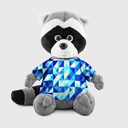 Игрушка-енот Синяя геометрия