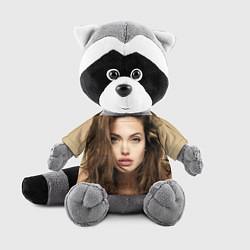 Игрушка-енот Анжелина Джоли цвета 3D-серый — фото 1