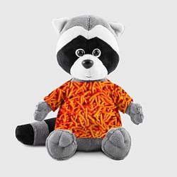 Игрушка-енот Морковь цвета 3D-серый — фото 1