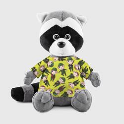Игрушка-енот Солдатики в камуфляже цвета 3D-серый — фото 1