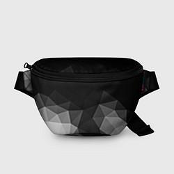 Поясная сумка Abstract gray цвета 3D — фото 1