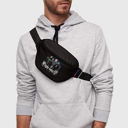 Поясная сумка Paparoach: Black style цвета 3D-принт — фото 2