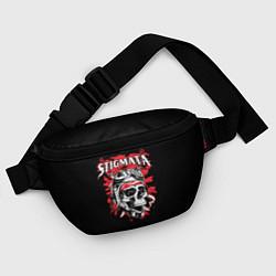 Поясная сумка Stigmata Skull цвета 3D-принт — фото 2