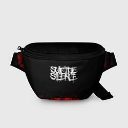 Поясная сумка Suicide Silence: Red Flame цвета 3D-принт — фото 1