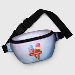 Поясная сумка Ice Creme цвета 3D-принт — фото 2