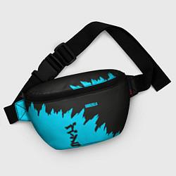 Поясная сумка GODZILLA цвета 3D-принт — фото 2