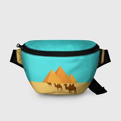 Поясная сумка Пирамиды Египта цвета 3D-принт — фото 1
