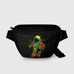 Поясная сумка Космонавт с кальяном цвета 3D-принт — фото 1