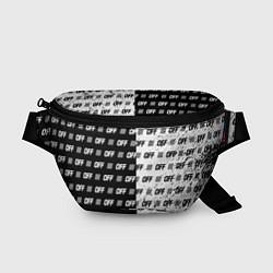Поясная сумка Off-White: Black & White цвета 3D-принт — фото 1