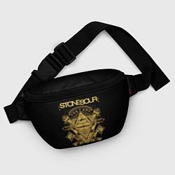 Поясная сумка Stone Sour цвета 3D-принт — фото 2