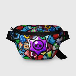 Поясная сумка МИНИМАЛИЗМ БРАВЛ СТАРС цвета 3D — фото 1