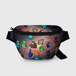 Поясная сумка Among Us Чёрная дыра цвета 3D — фото 1