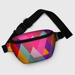 Поясная сумка Разноцветные полигоны цвета 3D — фото 2