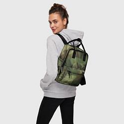 Рюкзак женский Полигональный камуфляж цвета 3D-принт — фото 2