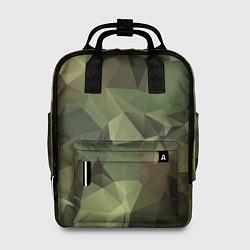 Рюкзак женский Полигональный камуфляж цвета 3D — фото 1