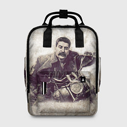 Рюкзак женский Сталин байкер цвета 3D-принт — фото 1