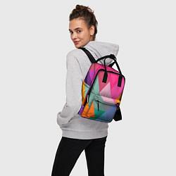 Рюкзак женский Разноцветные полигоны цвета 3D — фото 2
