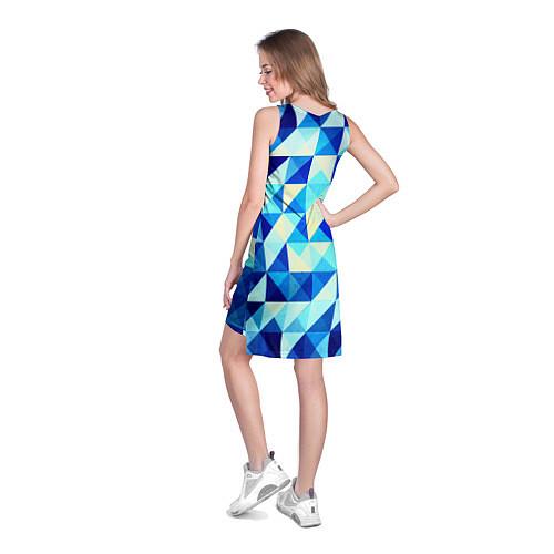 Женская туника Синяя геометрия / 3D – фото 4