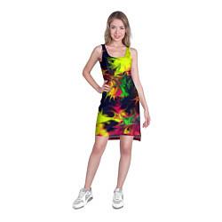 Туника женская Кислотный взрыв цвета 3D — фото 2