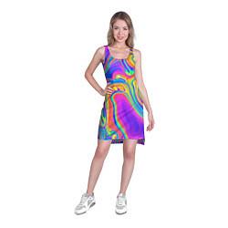 Туника женская Цветные разводы цвета 3D-принт — фото 2