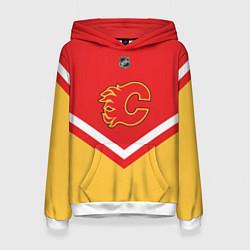 Толстовка-худи женская NHL: Calgary Flames цвета 3D-белый — фото 1