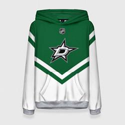Толстовка-худи женская NHL: Dallas Stars цвета 3D-меланж — фото 1
