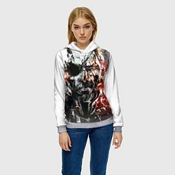 Толстовка-худи женская Metal gear solid 5 цвета 3D-меланж — фото 2