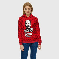 Толстовка-худи женская KGB: So Good цвета 3D-красный — фото 2