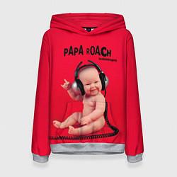 Толстовка-худи женская Paparoach: Music Kid цвета 3D-меланж — фото 1