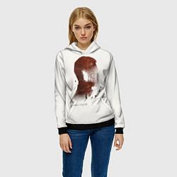 Толстовка-худи женская Дельфин/Андрей цвета 3D-черный — фото 2