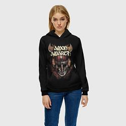 Толстовка-худи женская Amon Amarth: Death Viking цвета 3D-черный — фото 2