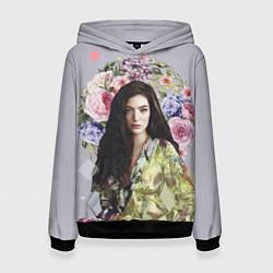 Толстовка-худи женская Lorde Floral цвета 3D-черный — фото 1