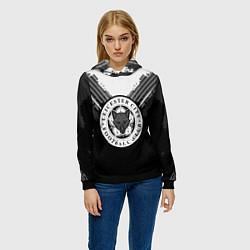 Толстовка-худи женская FC Leicester City: Black Style цвета 3D-черный — фото 2
