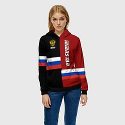 Толстовка-худи женская Tatarstan, Russia цвета 3D-черный — фото 2