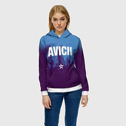 Толстовка-худи женская Avicii Star цвета 3D-белый — фото 2