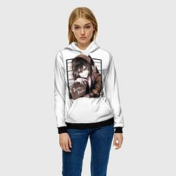 Толстовка-худи женская Isaac Foster цвета 3D-черный — фото 2