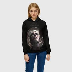 Толстовка-худи женская Death Stranding: Mads Mikkelsen цвета 3D-черный — фото 2